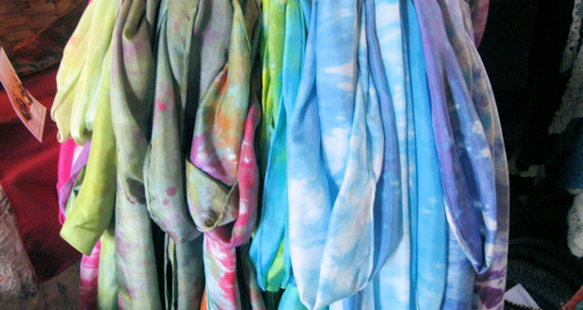 Hand Dyed Silk Scarfs by Shenandoah Valley Made