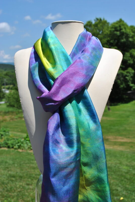 hand dyed silk scarves by Shenandoah Valley Made