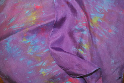 Purple Impressionist Scarf Close up
