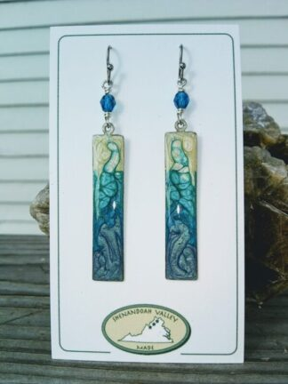 Summer Blues long rectangle earrings by Shenandoah Valley Made