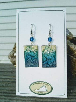 Summer Blues small rectangle earrings by Shenandoah Valley Made