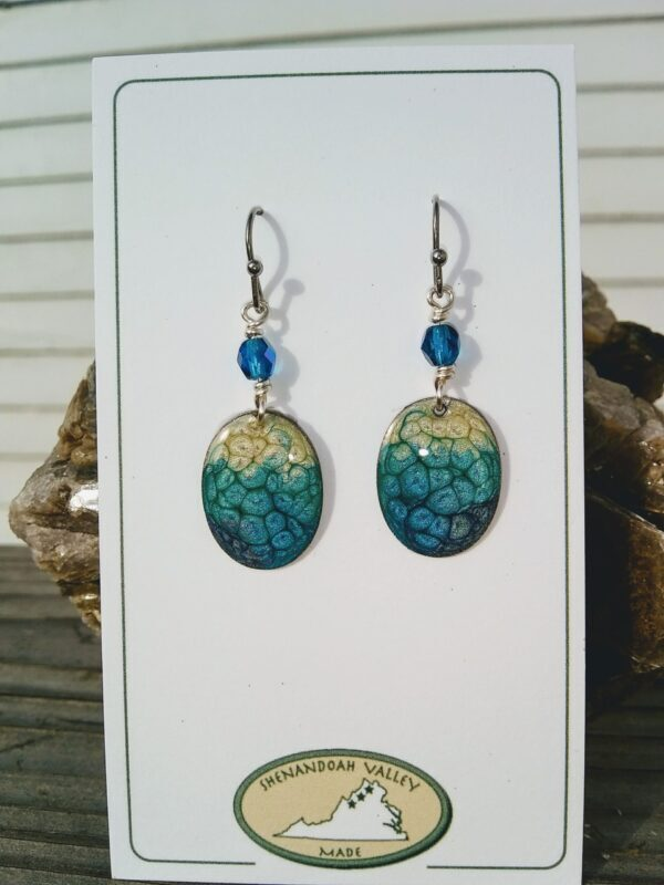 Summer Blues small oval earrings by Shenandoah Valley Made