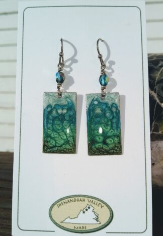 Landscape small rectangle earring by Shenandoah Valley Made
